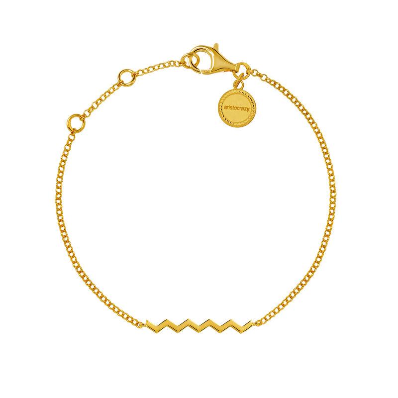 Bracelet zigzag argent plaqué or, J03039-02, hi-res