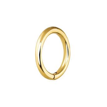 Pendiente piercing aro simple mediano oro, J03843-02-H, hi-res
