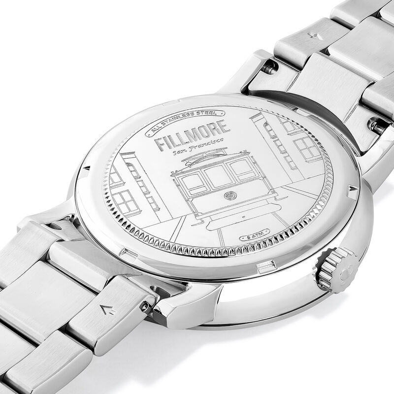 Fillmore watch blue face, W55A-STSTBU-AXST, hi-res