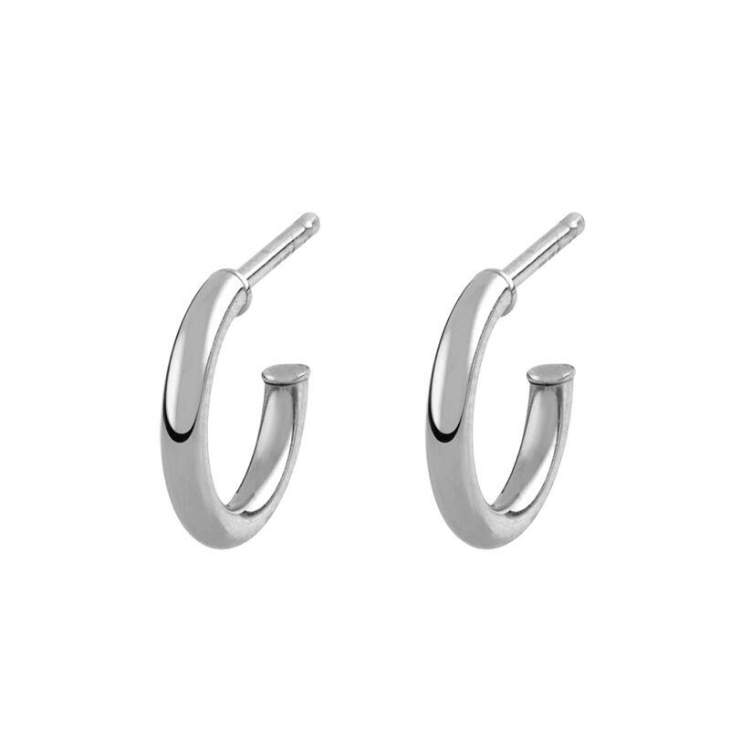 Pendientes aro mini plata, J01755-01, hi-res