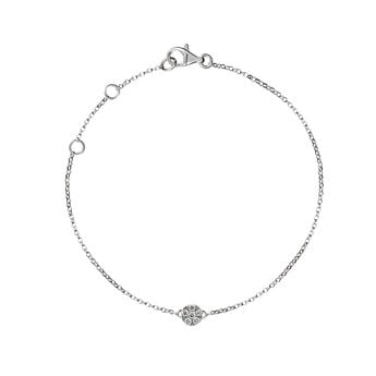 White gold rosette bracelet diamonds, J01350-01, hi-res