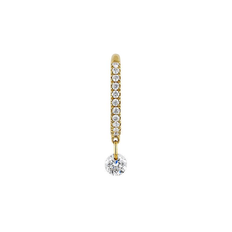 Boucle d'oreille créole diamants or, J04424-02-H, hi-res