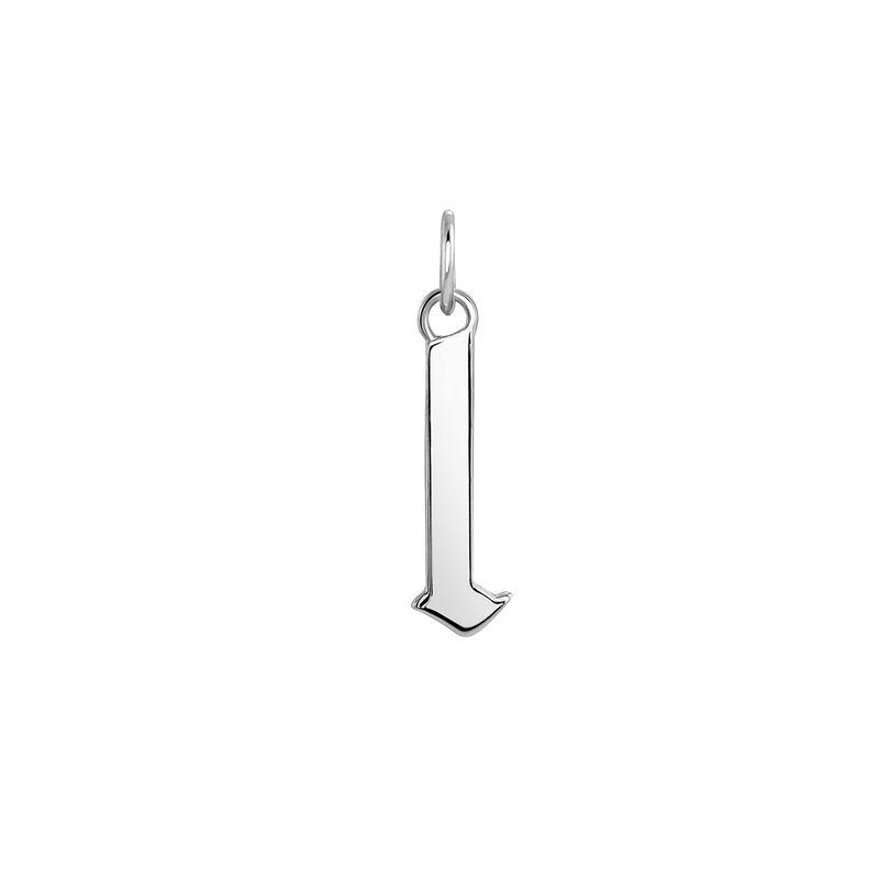 Gothic letter L pendant silver, J04016-01-L, hi-res