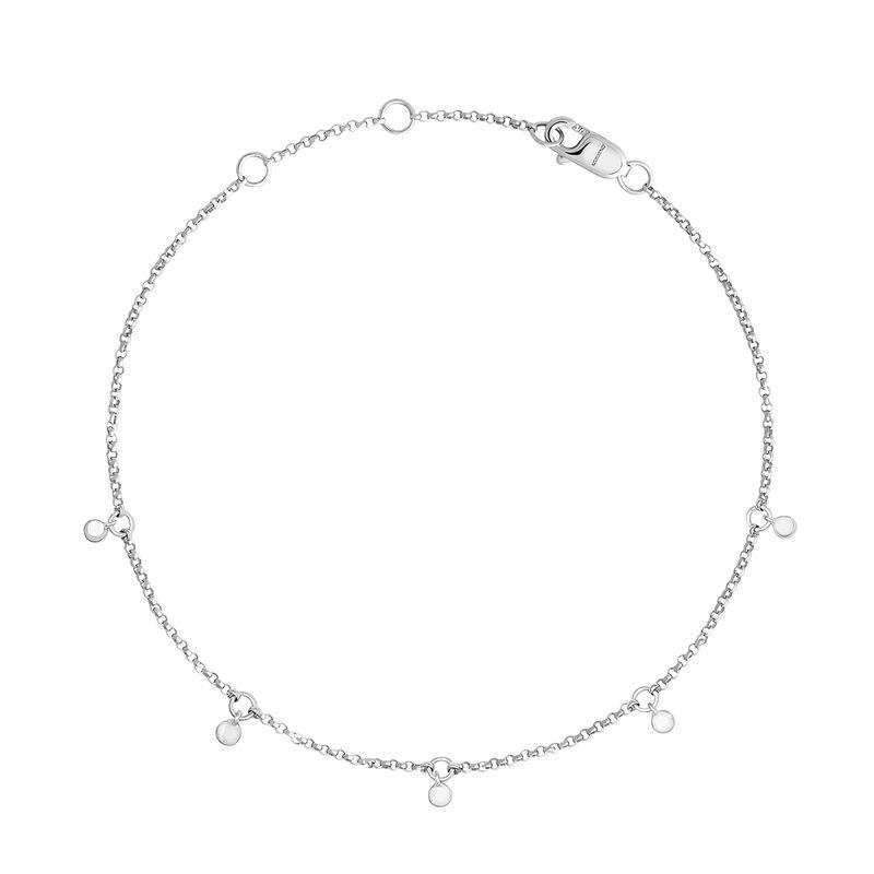 Bracelet en or blanc de 9 ct avec motifs cercles, J04540-01, hi-res