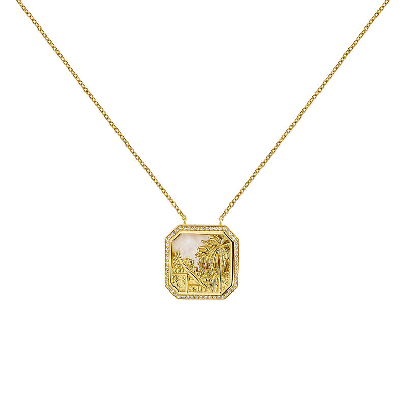 Colgante paisaje nácar topacios plata recubierta oro, J04276-02-WT-MOP, hi-res