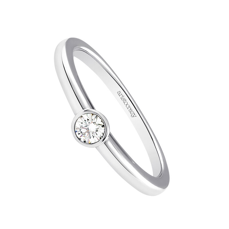 Anillo diamante 0,1 ct oro blanco, J03017-01-10-GVS, hi-res
