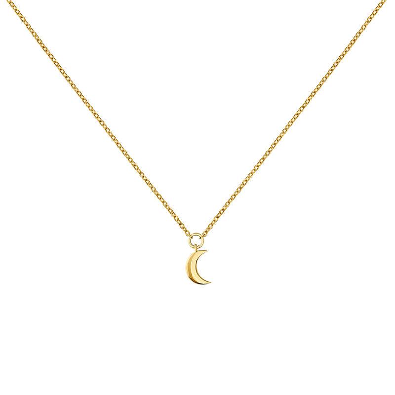 Collier en or jaune de 9 ct avec motifs lune, J04544-02, hi-res