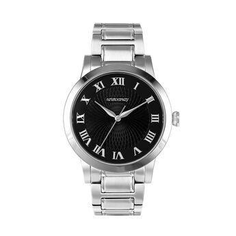 Montre Brera bracelet cuir cadran noir, W44A-STSTBL-AXST, hi-res