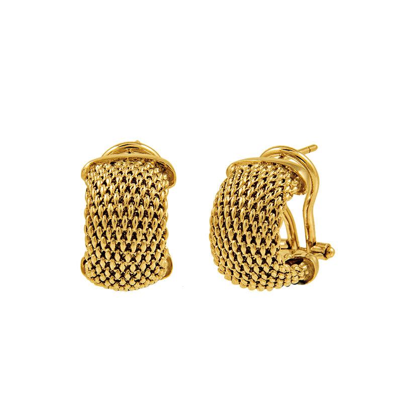 Pendientes pequeños malla oro, J01298-02, hi-res