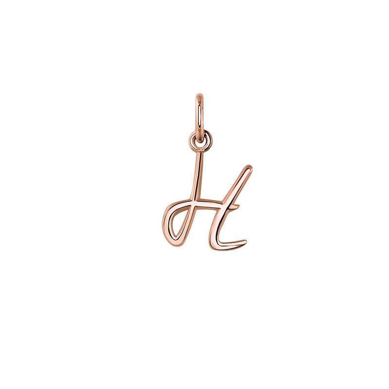 Pendentif lettre H argent plaqué or rose, J03932-03-H, hi-res