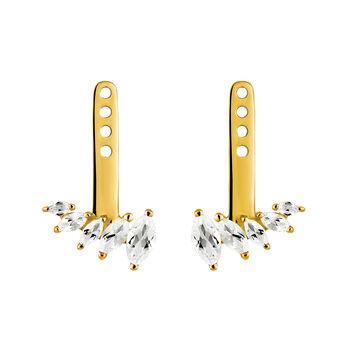 Gold plated topaz reduction jackets, J03367-02-WT-J, hi-res
