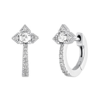 Silver Vintage Hoop Earrings, J03796-01-WT-GD, hi-res