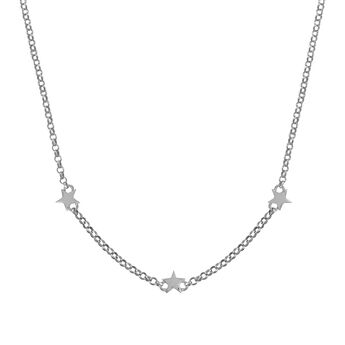 Silver mini stars necklace , J01900-01, hi-res