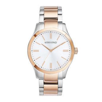 Two-tone bracelet Mitte watch, W41A-STPKGR-AXMX, hi-res