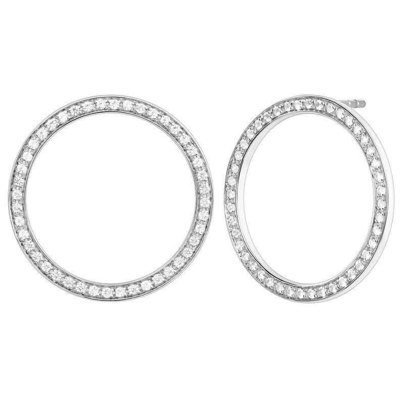 Pendientes círculo topacio plata, J04051-01-WT, hi-res