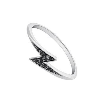 Anillo pequeño rayo espinela plata, J03626-01-BSN, hi-res