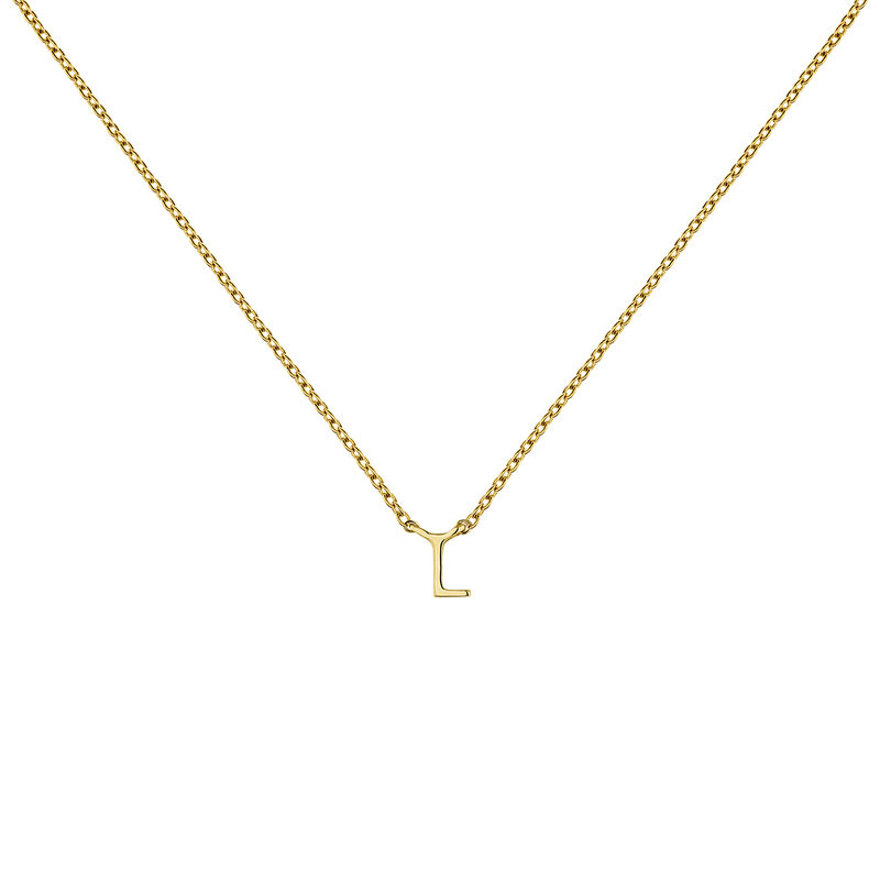 Collier initiale L or, J04382-02-L, hi-res