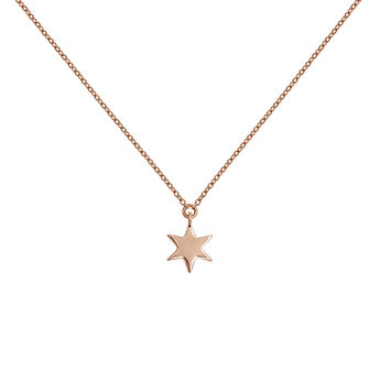 Rose gold star necklace, J03863-03, hi-res