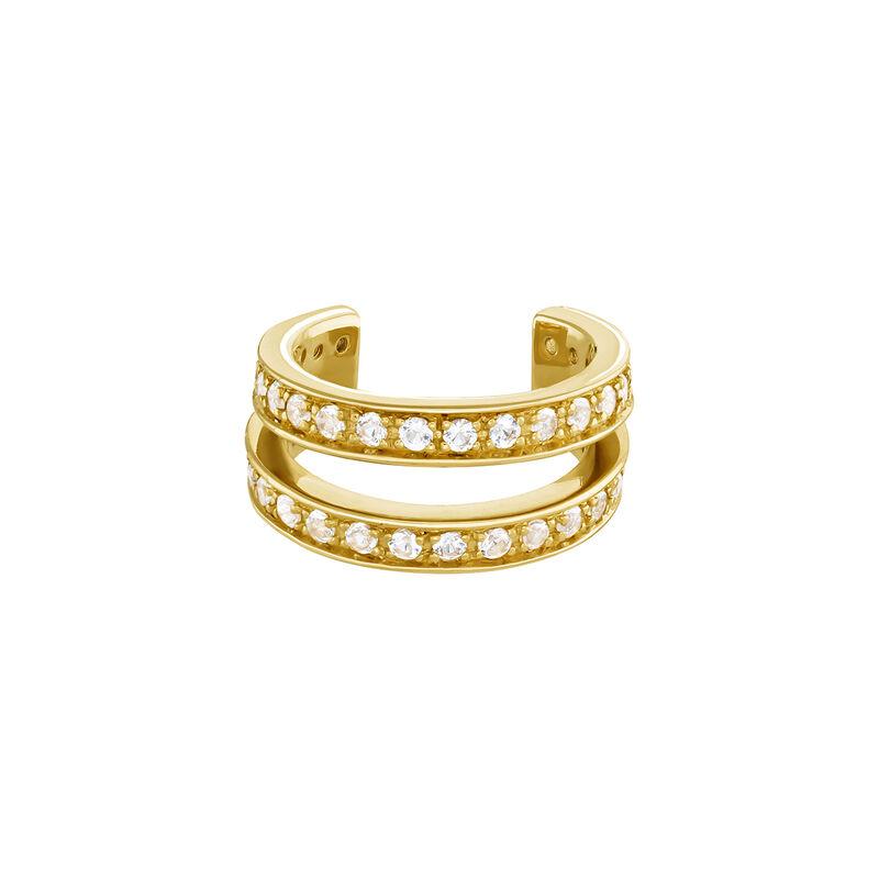 Piercing cartílago doble aro plata recubierta oro