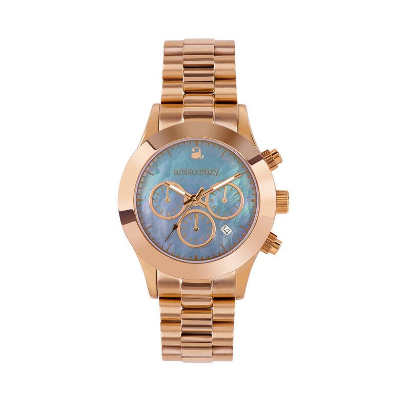 Soho watch rose gold bracelet mother of pearl face., W29A-PKPKMP-AXPK, hi-res