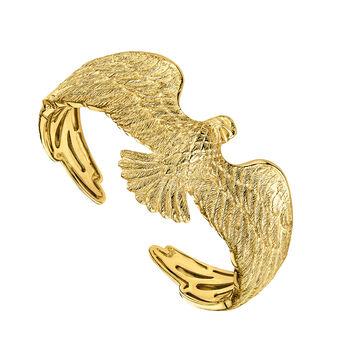 Gold plated eagle bangle, J04547-02, hi-res