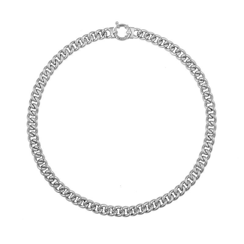 Silver mini rolo link necklace, J01917-01-45, hi-res