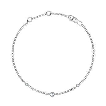 Pulsera tres diamantes oro blanco 9kt, J04502-01, hi-res
