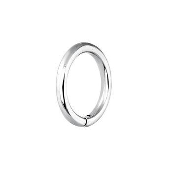 Medium white gold hoop earring piercing, J03843-01-H, hi-res