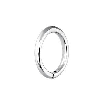Boucle d'oreille piercing créole moyenne or blanc, J03843-01-H, hi-res