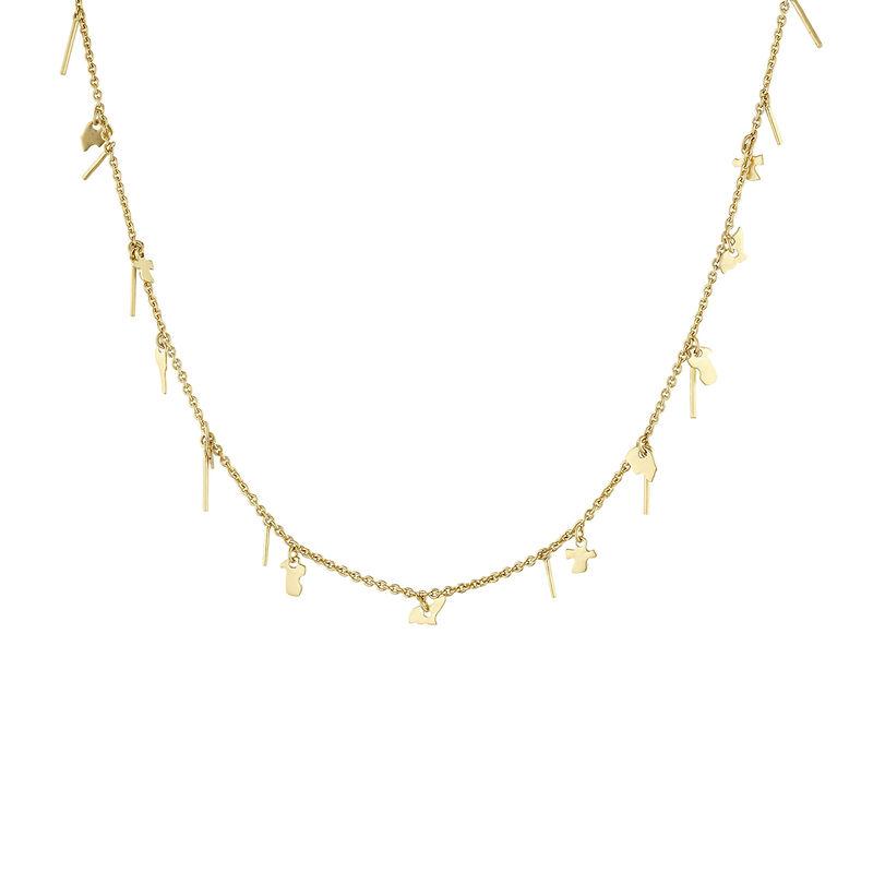 Collar motivos plata recubierta oro, J04551-02, hi-res