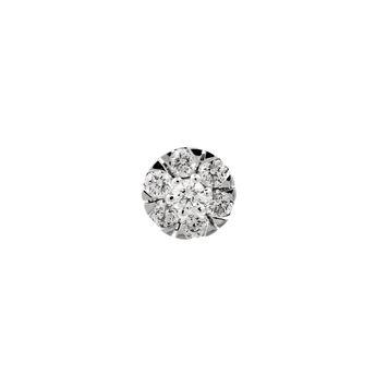 Pendiente roseta diamantes 0,15 ct oro, J00915-01-30-H, hi-res