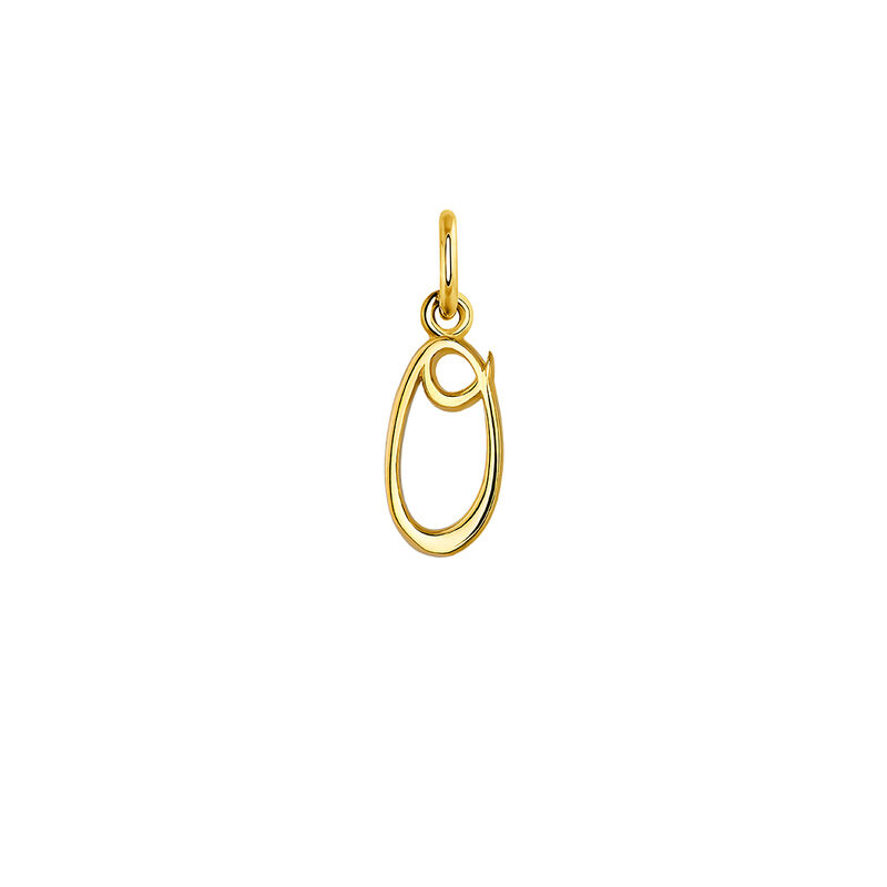 gold plated initial O necklace, J03932-02-O, hi-res