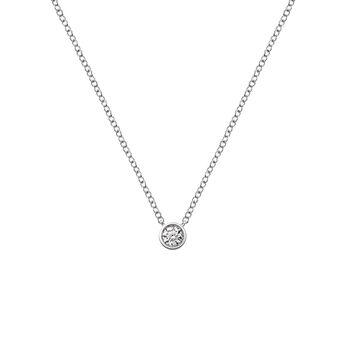 Colgante círculo oro diamante, J03023-01-10-GVS, hi-res