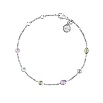 Bracelet mix pierres argent, J03764-01-AMPESB, hi-res