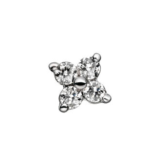 Boucle d'oreille trèfle diamants 0,065 ct or, J00791-01-NEW-H, hi-res