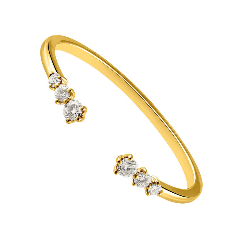 Gold You and I diamond ring 0.1 ct, J03345-02, hi-res