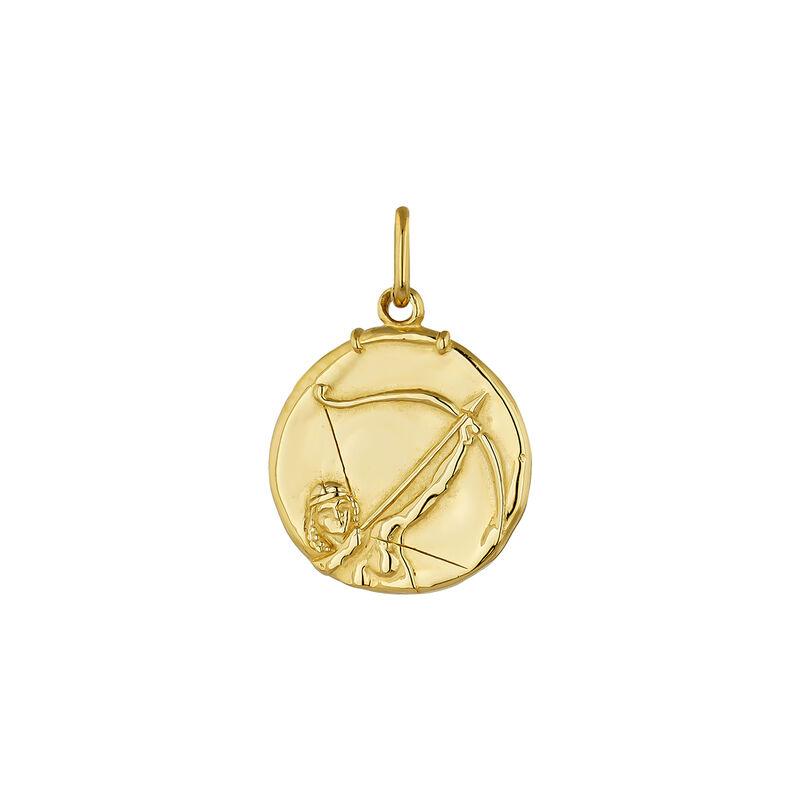 Pendentif sagittaire argent plaqué or, J04780-02-SAG, hi-res