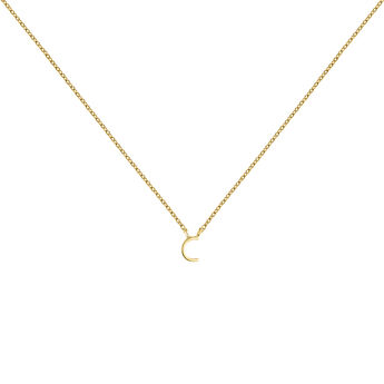 Collar inicial C oro9 kt, J04382-02-C, hi-res