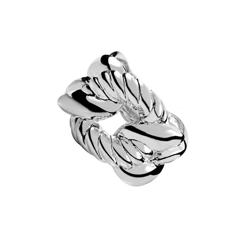 Anillo eslabones liso gallón plata, J00611-01, hi-res
