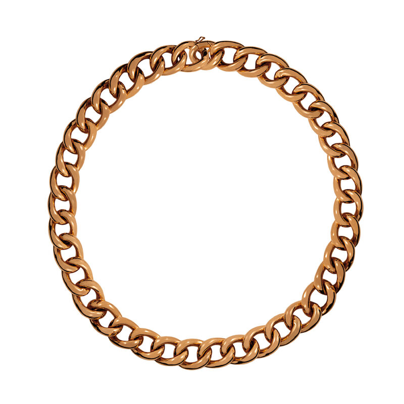 Short rose gold platedbarbed necklace, J00907-03-45, hi-res