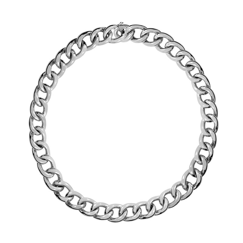 Short silver barbed necklace, J00907-01-45, hi-res