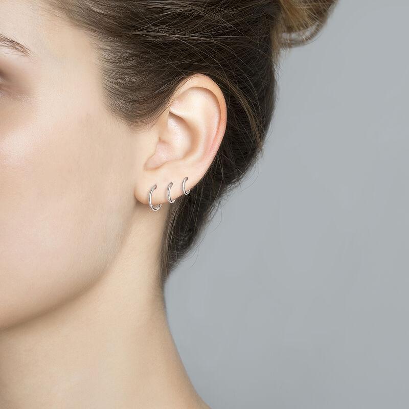 Pendiente piercing aro mediano oro blanco, J03843-01-H, hi-res