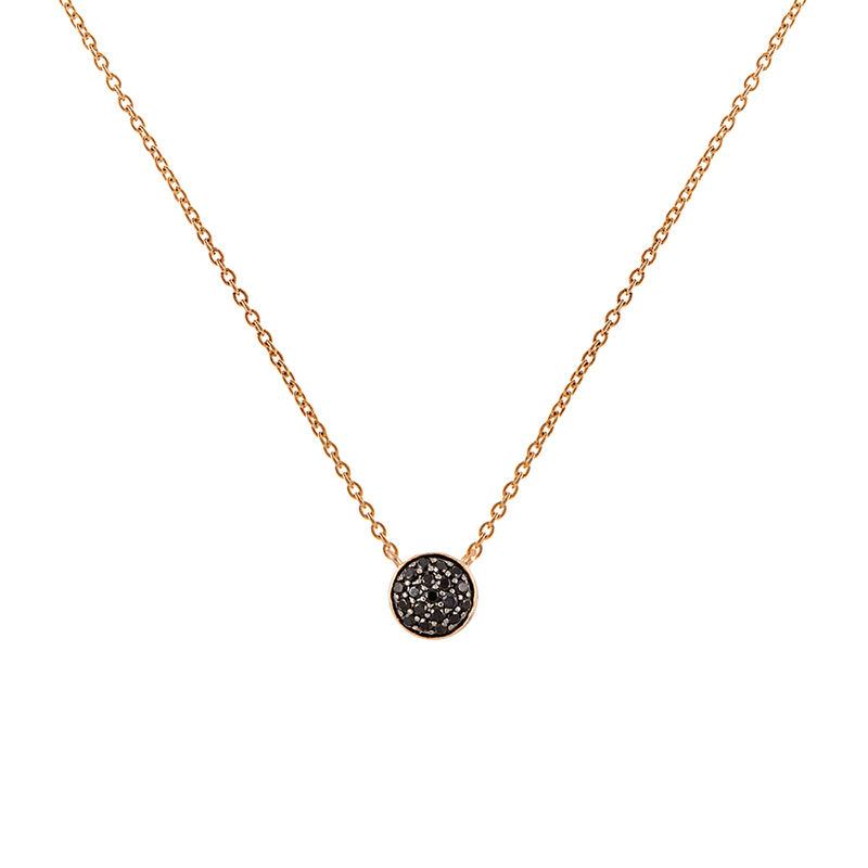 Colgante círculo espinelas plata recubierta oro rosa, J01971-03-BSN, hi-res
