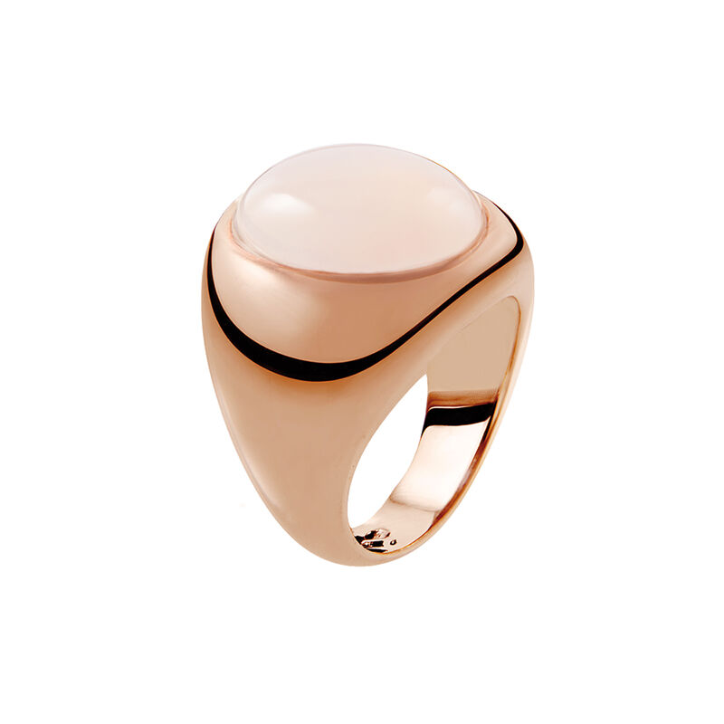 Rose gold large seal moonstone ring, J01974-03-WMS, hi-res