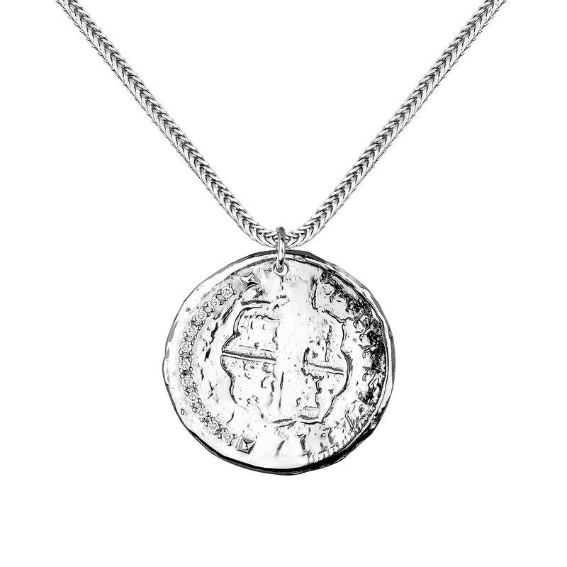 Silver coin pendant, J03590-01-WT, hi-res
