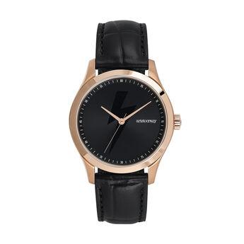 Montre Rock Icons bracelet cuir éclair, W41A-PKPKTH-LEBL, hi-res