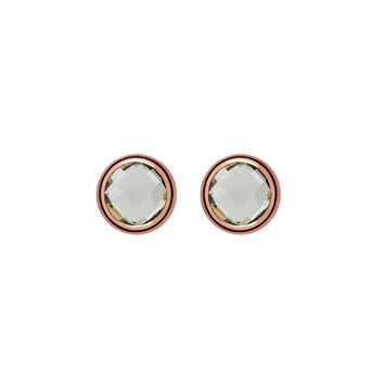 Rose gold chaton quartz earrings, J00962-03-GQ, hi-res
