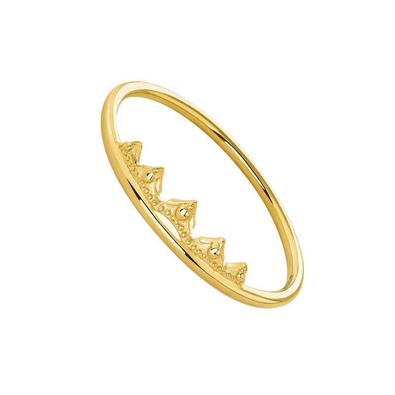 Gold crown ring, J04517-02, hi-res