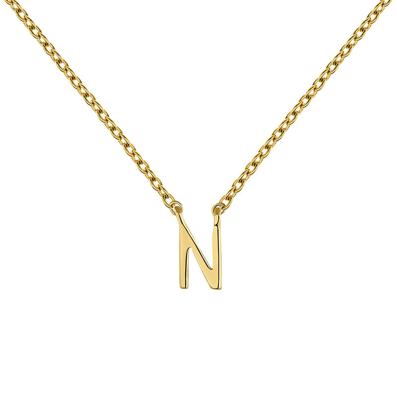 Collier initiale N or, J04382-02-N, hi-res