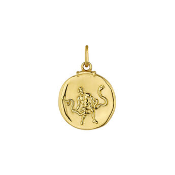 Pendentif serpentaire argent plaqué or, J04780-02-OFI, hi-res
